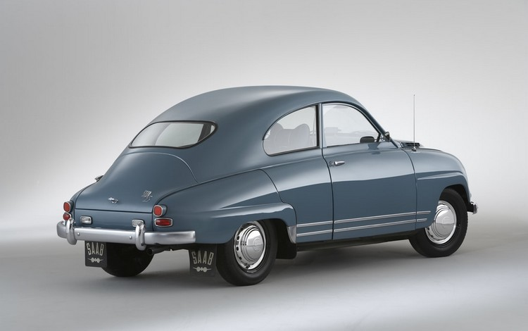 SAAB 93 1960 год вид сзади