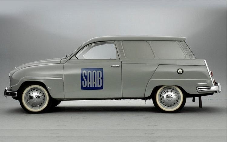 SAAB 95 1962 год вид слева